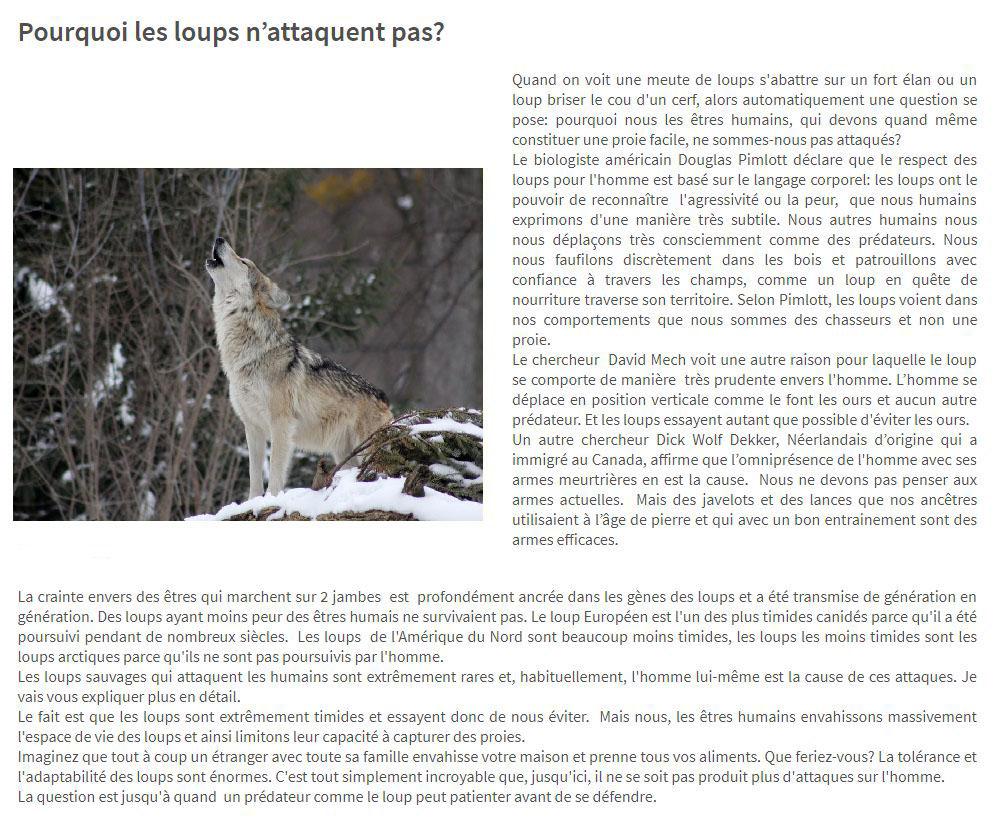 Cohabiter avec les Loups et les Ours... en France