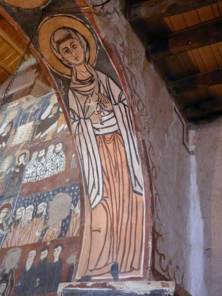 """le Monastère de """"Mar Mousa el-Habashi""""; les peintures;"""