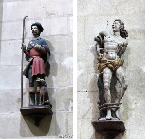 Le clic clac du vendredi : deux sculptures de St Barnard à Romans