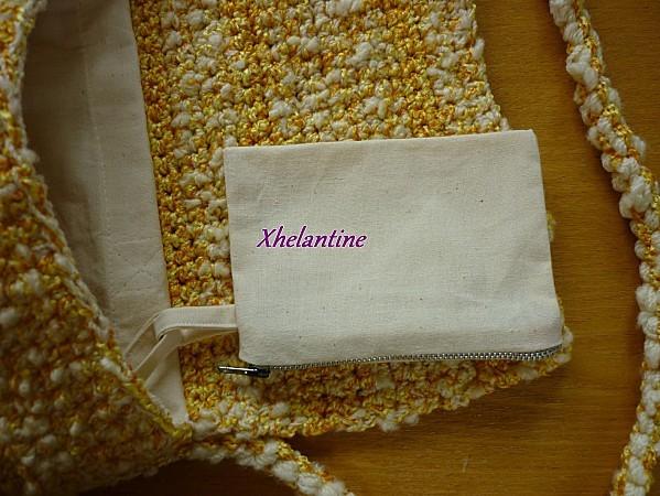 sac au crochet jaune blanc ouvert 4