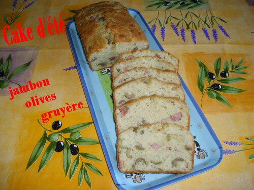 Cake d'été au jambon et olives