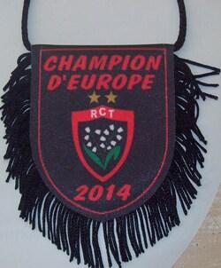 Fanion RCT (30) Verso Champion d'Europe 2014