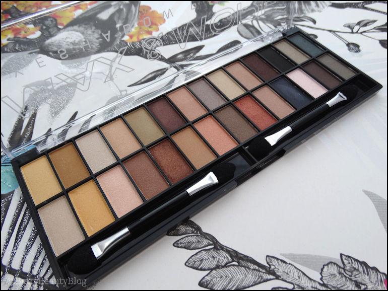 La palette nude de max & more (swatchs et maquillages)