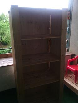 Voici l'étagère avant la modification