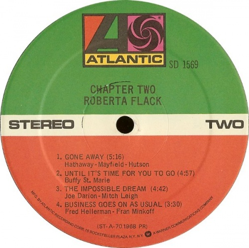 """Roberta Flack : """" Chapter Two """" Atlantic Records SD 1569 [ US ]"""