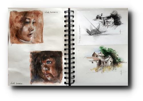 Sitting sketcher...4