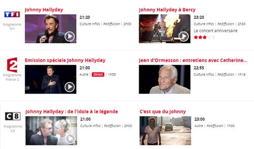 Hommages et funérailles, Johnny Halliday et Jean d'Ormesson