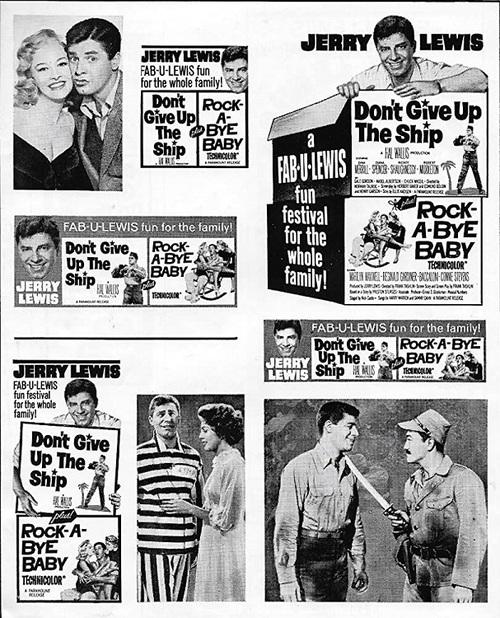 DON'T GIVE UP THE SHIP: ROCKA  BYE BABIE BOX OFFICE USA 1963