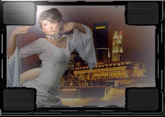 femme ville