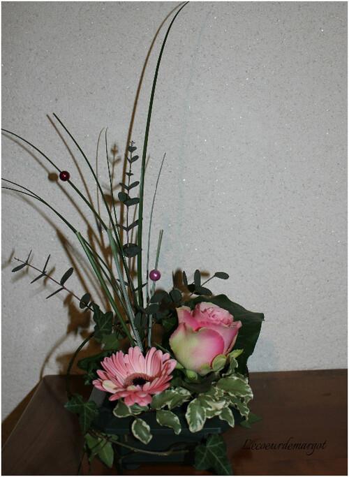 Art floral / Tout en rose