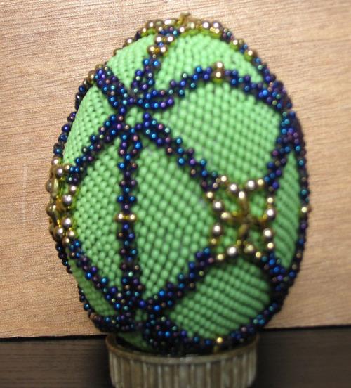Oeuf en perles de Fabienne