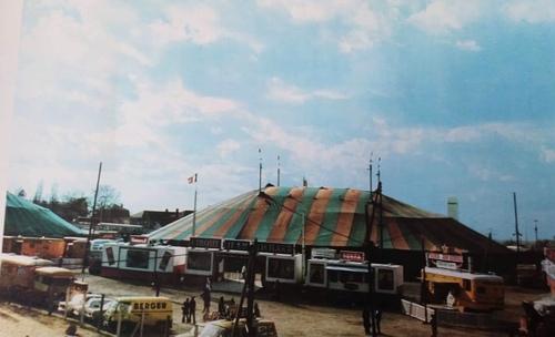 le cirque jean Richard en 1972 à la Défense ( photo paul de Cordon) - archives Alain Le Bronnec