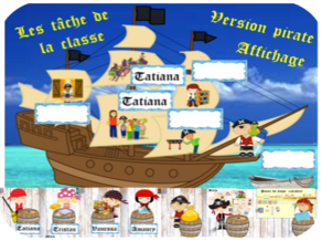 Les tâches de la classe version Pirates