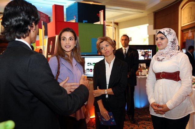 Rania et les étudiants