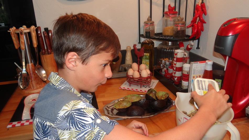 Recette d'Ethan Avocats aux sardines à l'huile d'olive