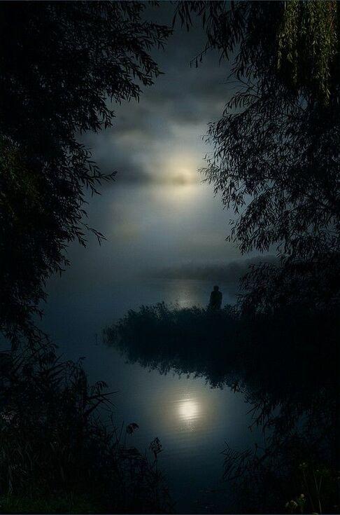 solitude au clair de lune