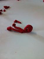 Les spirales: escargots en pâte à modeler pour une première étape