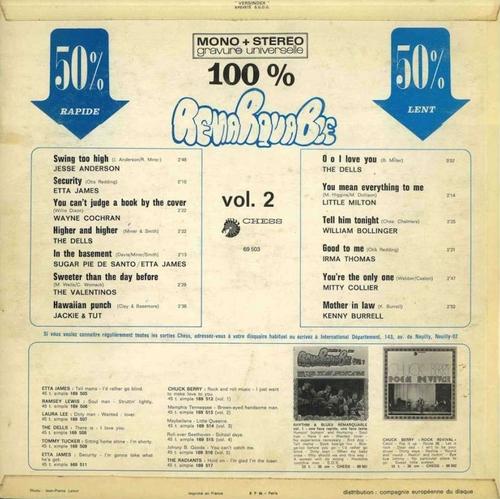 "Série "" Remarquable Rhythm & Blues Vol 2 "" Chess Records 69503 [ FR ] en 1968"