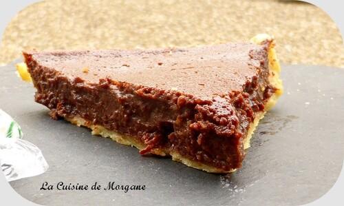 Tarte chocolat et raisins secs