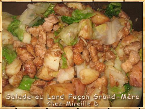 Salade au Lard façon Grand-Mère