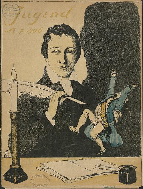 Né le 13 décembre 1797,  Heinrich Heine, Sagittaire ascendant Scorpion