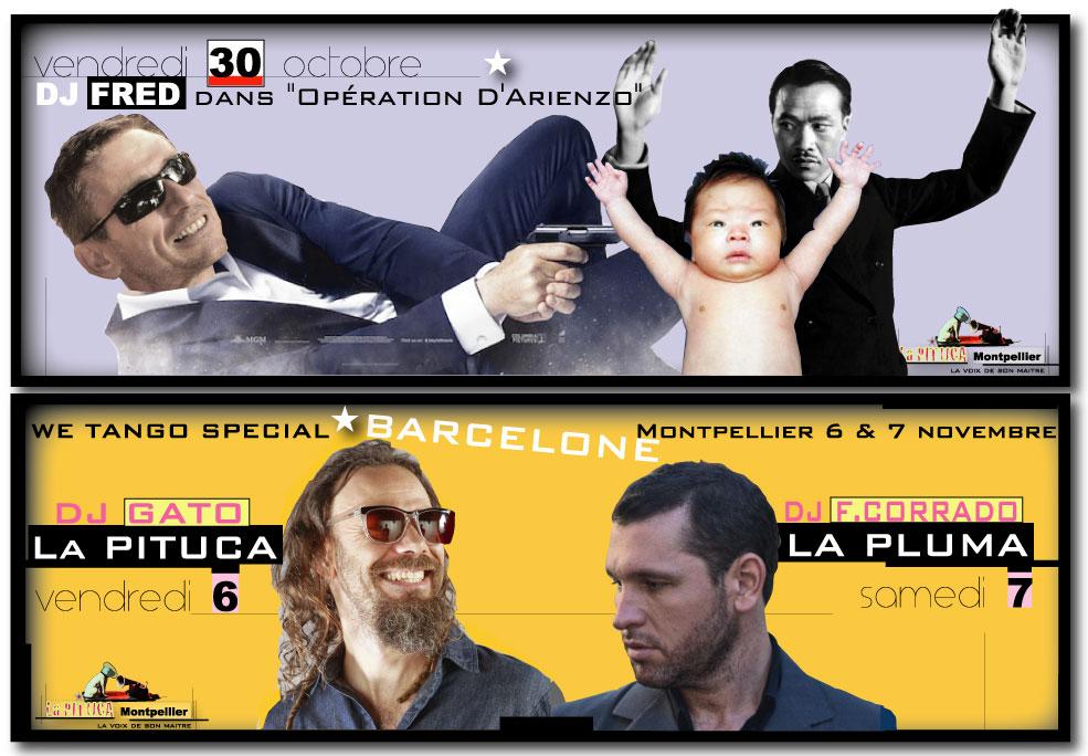 "★ Vendredi 30 octobre, ""Opération D'Arienzo"" avec DJ FRED à La PITUCA ★ Puis we spécial BARCELONE V.6/S.7 novembre LA PITUCA / LA PLUMA"