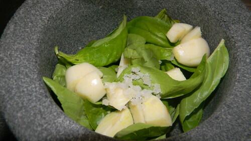 Gratin Provencal de pâtisson, lardons, basilic, noix, fromage frais....