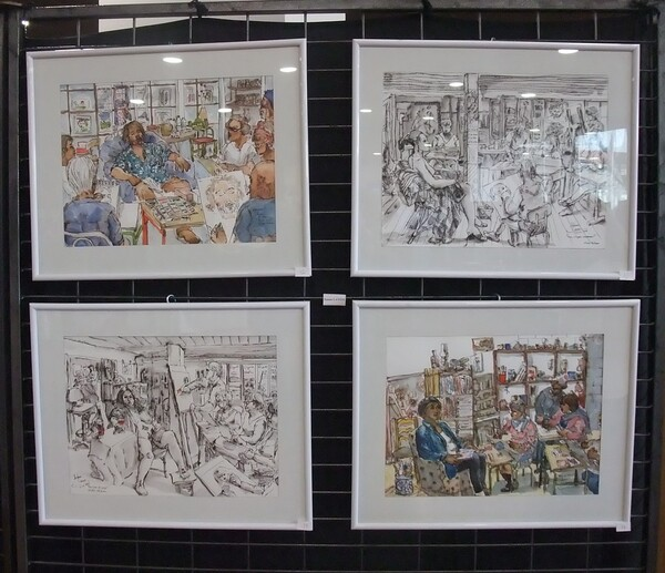Mercredi - L'expo (3) mes dessins et scènes d'atelier
