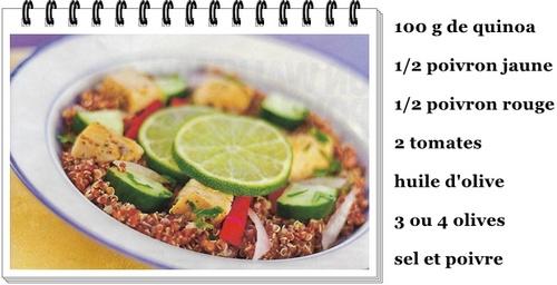 salade de quinoa aux poivrons
