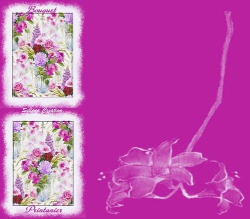 Papier IMail *bouquet printannier*
