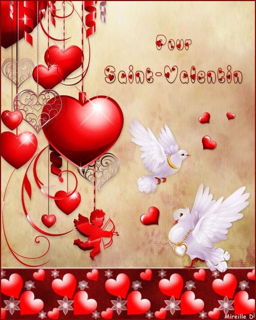 Carte Romantique pour Saint-Valentin