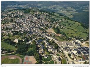vue aérienne de Château-Chinon