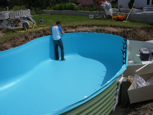 Construction piscine waterair for Liner waterair