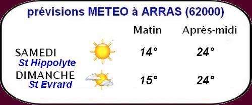 météo du 13 et 14 août
