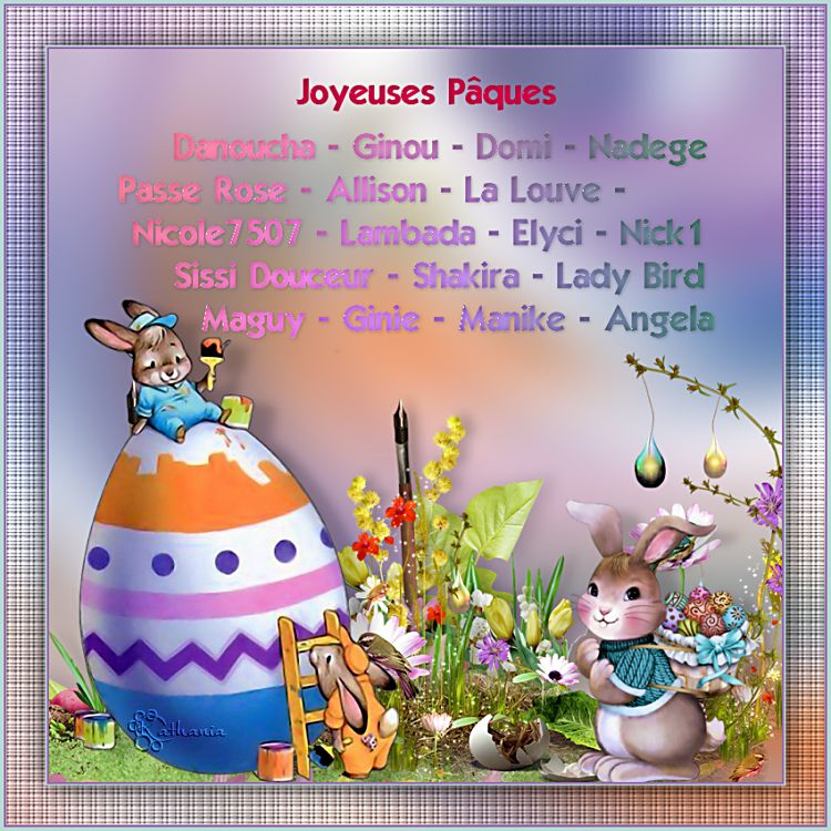 Joyeuses Pâques 2019 à...........
