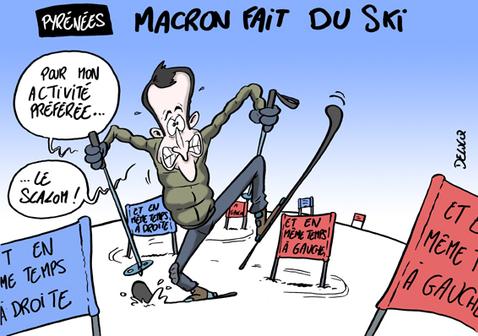 """Résultat de recherche d'images pour """"macron ski humour"""""""