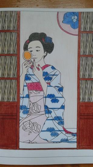 """Coloriages """"Kimonos"""" #1"""