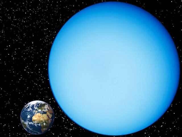 Comparatif entre Uranus et la Terre