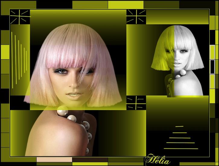 Femme aux cheveux rose