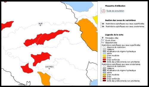 Nouvelles restrictions d'eau dans le Tarn (4 sept 2011)