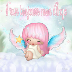 "Pour toujours mon ange ""Hommage bb fille"" (code inclu)"