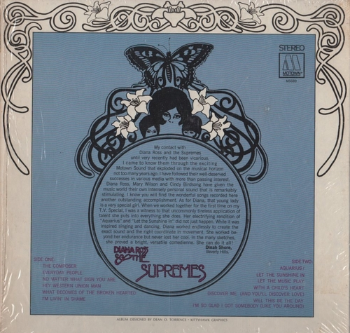 """Diana Ross & The Supremes : Album """" Let The Sunshine In """" Motown Records MS 689 [ US ]"""