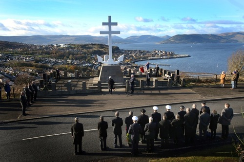 * 12 novembre 2017 : Remembrance à Greenock