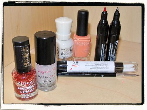 Nail Art de Noël: matériel