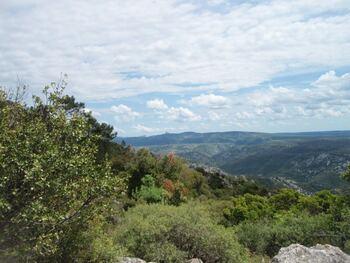 La vue depuis le Cap de Pousterle