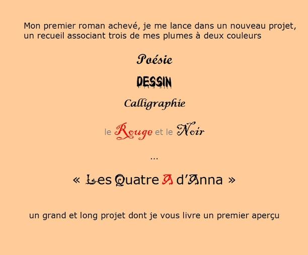 * L'ENCRIER * « Les Quatre A d'Anna »