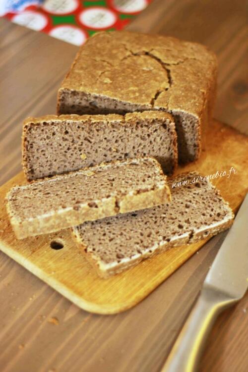 Recette de pain sans gluten de Sirene Bio