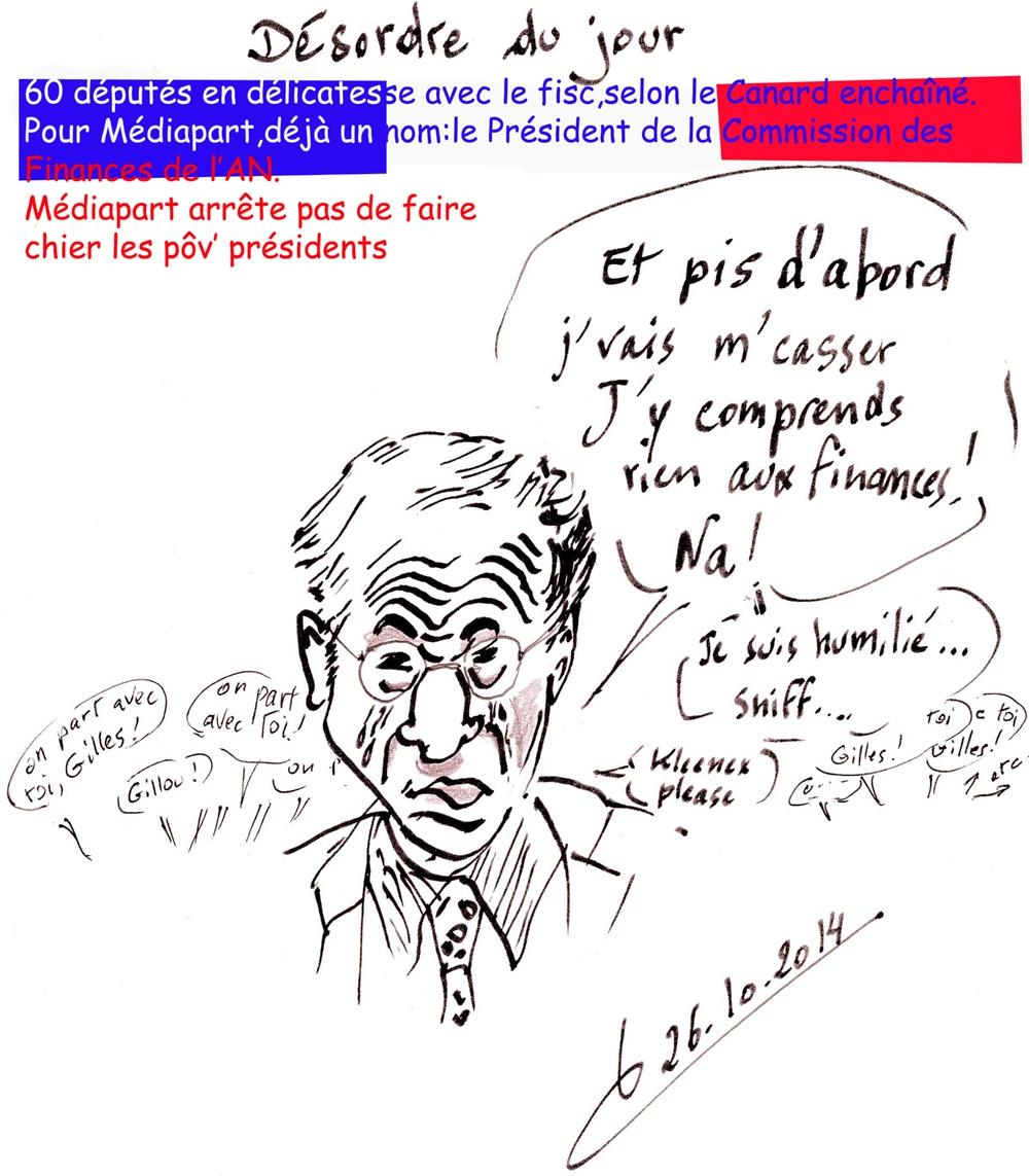 Députés/commission des Phynances/Mr Carrez Gilles/caricature