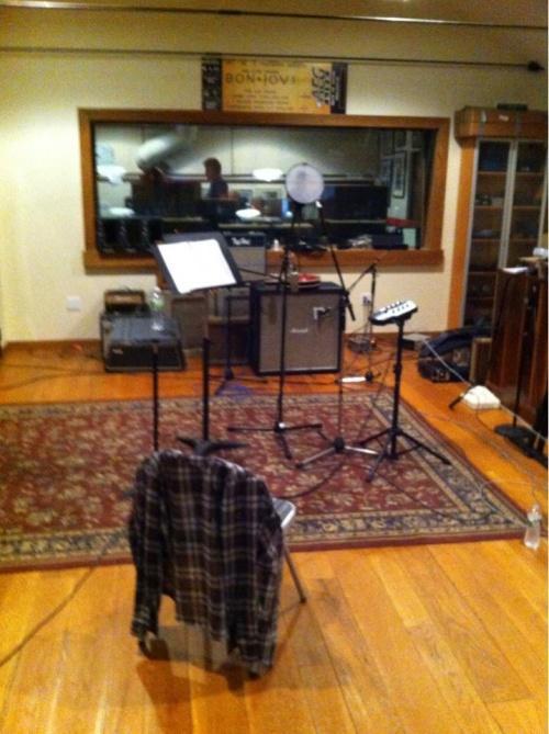 jon et richie en studio finalisant l'album Mars 2013