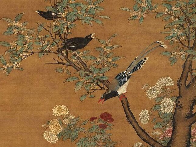 Le tableau du samedi : oiseaux de montagne Lü Ji